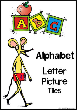 Alphabet Letter-Picture Tile Cards