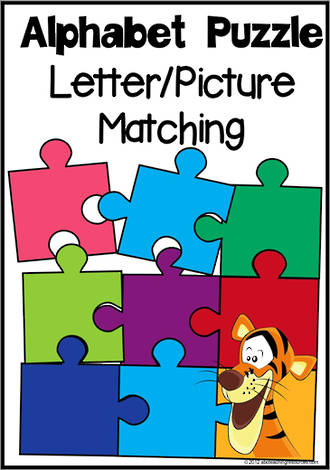 Alphabet Letter-Picture Matching Puzzle