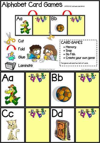 Alphabet Card Games |  Uppercase - Lowercase Letters