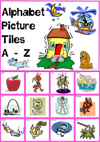 Alphabet | A-Z Picture | Tile-Cards