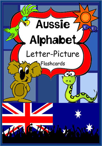 Aussie Alphabet | Letter-Picture | Flashcards