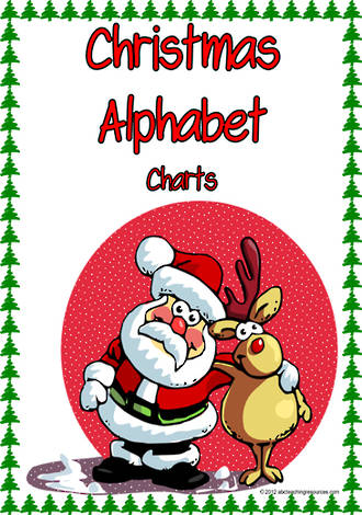 Christmas Alphabet | Picture-Letter-Word | Charts