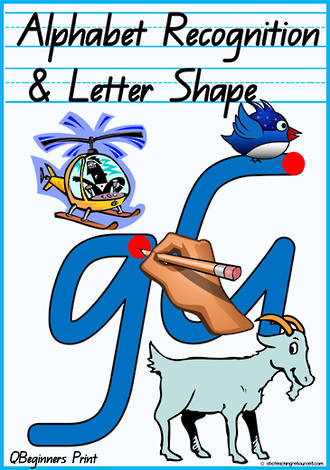 Alphabet | Recognition and Letter Shape | QBeginners Print