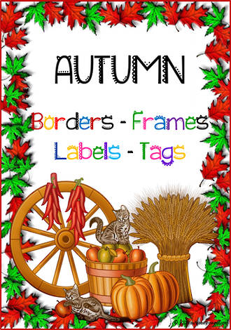 Autumn Leaves | Border - Frames- Labels -Tags