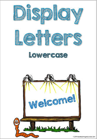 Display Letters | Lowercase | Blue | Set 1