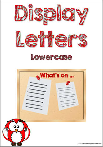 Display Letters | Lowercase | Red | Set 3