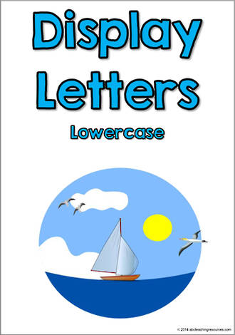 Display Letters | Lowercase | Blue | Set 5