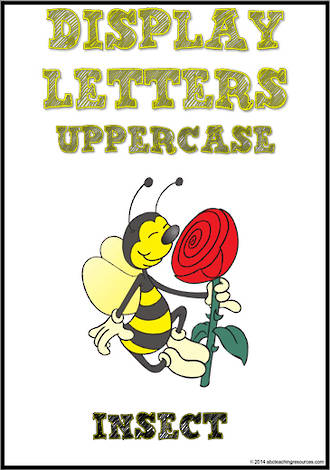 Display Letters | Uppercase | Yellow | Set 20