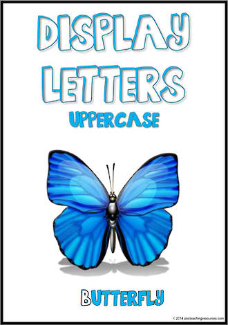 Display Letters   Uppercase   Blue   Set 21