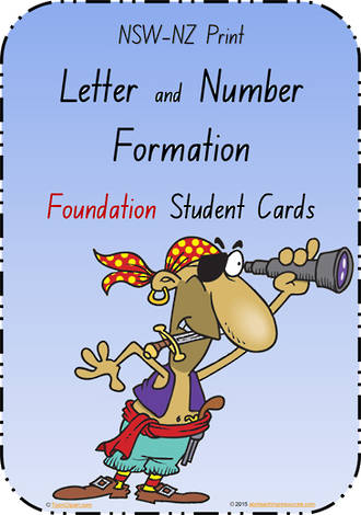 Foundation Handwriting | Letter Formation |  Cards | NSW - NZ Print