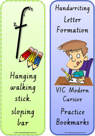 Foundation Handwriting | Terminology | Bookmark | Lowercase Letter | Cards | VIC Modern PreCursive