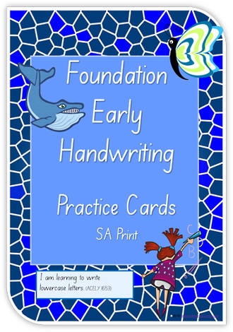Foundation Handwriting | Practice | Lowercase Letters | Cards | SA Print