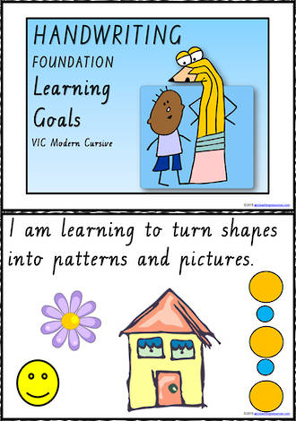 Foundation Handwriting | Visible Learning | Learning Goals | Charts |  VIC Modern PreCursive