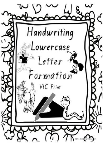 Year 1 Handwriting | Letter Formation | Lowercase | Charts | VIC Print