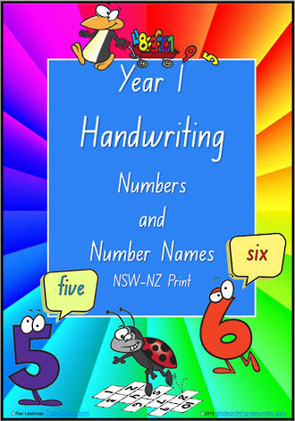 Year 1 Handwriting | Practice | Number |  Number Names | NSW-NZ Print