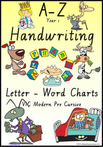Year 1 Handwriting | Management | Letter – Word | Colour Charts | VIC Modern PreCursive