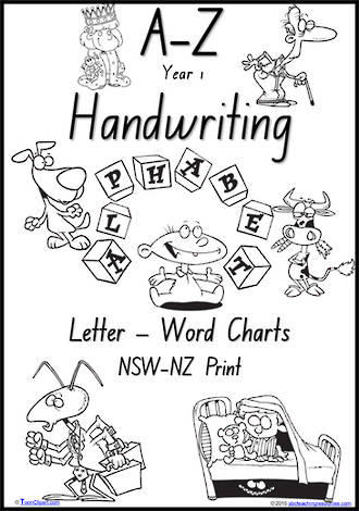 Year 1 Handwriting | Management | Letter – Word | Black and White | Charts | NSW-NZ Print