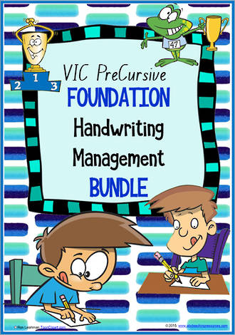 Foundation Handwriting | Management | BUNDLE | VIC PreCursive