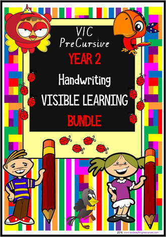 Year 2 | Handwriting |  Visible  Learning | BUNDLE | VIC PreCursive