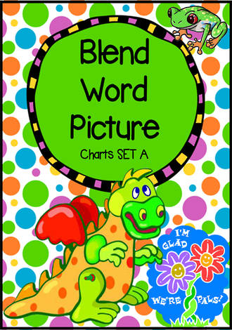 Beginning Blend  | Word | Picture Charts - Set A