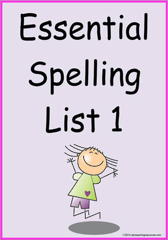 Essential Spelling | List 1 | Cards