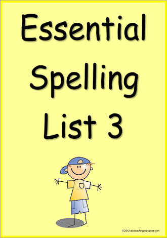 Essential Spelling | List 3 | Cards