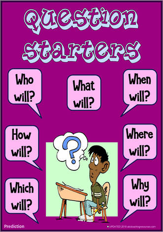 Question Starters | Extended Questioning | Prediction
