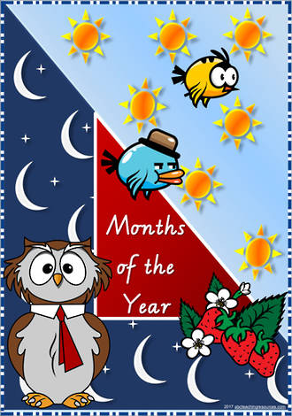 Months of the Year | VIC Modern PreCursive | Cards
