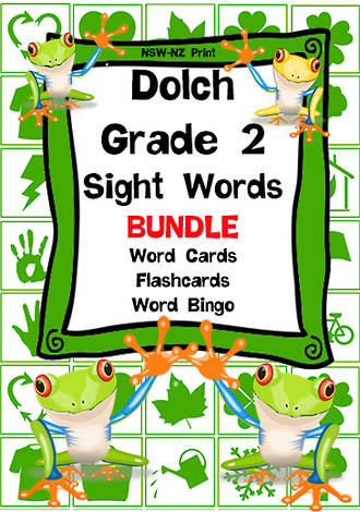 Sight Words | Dolch Grade 2 | List 4 | BUNDLE | NSW –NZ Print