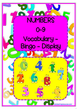Numbers | 0-9 | Bingo |  Word | Charts