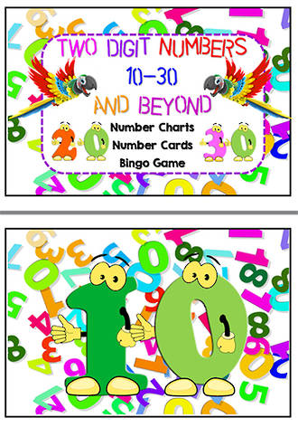 Numbers | 1 0 - 30 | Game | Word | Charts