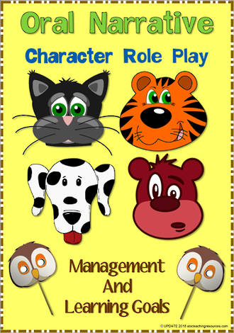 Oral Narrative - Animal Character Role Play | Charts 2