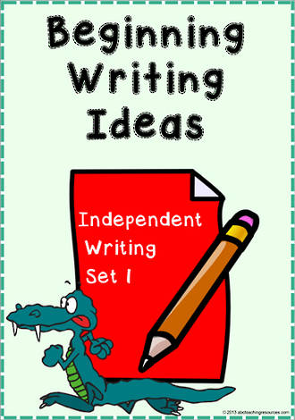 Beginning Writing Ideas | Task Cards | Set 1