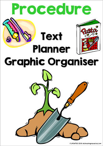 Procedure Writing | Text Planner |  Graphic Organiser | Chart