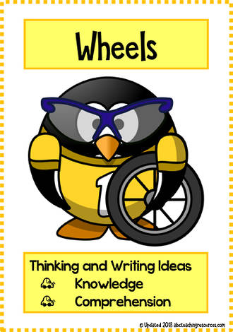 Wheels | Critical & Creative Thinking | Writing Prompts | Fluent Writers | Set 1