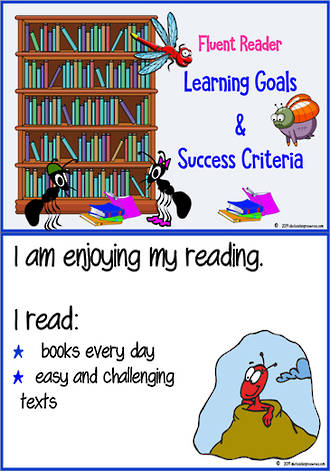 Fluent Reader | Learning Intentions and Success Criteria Charts
