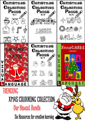Christmas | Colouring Pages | Card Making | Writing Prompts | BUNDLE