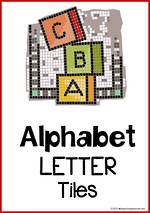 Alphabet Letter Tile Cards