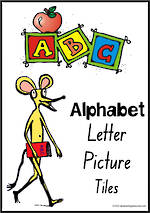 Alphabet Letter-Picture Tile Cards | NSW-NZ  Print