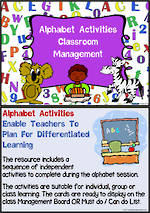 Alphabet | Activity | Classroom Management  1
