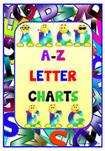 Alphabet |Cartoon Uppercase Letters | Charts