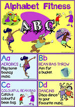 Alphabet Fun | Fitness Activity | Cards | KBbubblegum