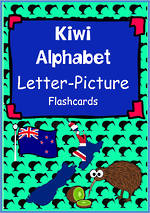 Kiwi Alphabet | Letter-Picture | Flashcards
