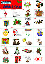 Christmas Alphabet | Tile Cards