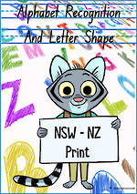 Alphabet |  Recognition and  Letter Shape | NSW-NZ Print