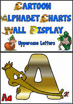 Alphabet | Uppercase Letter | Cartoon Charts