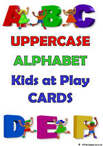 Alphabet | Uppercase Letters | Kids at Play | Cards