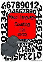 Maori Language | Counting  | Number Cards