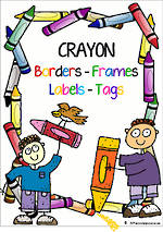 Crayon Theme | Border - Frames- Labels -Tags