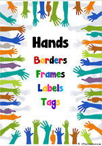 Volunteer  Theme | Border - Frames- Labels -Tags